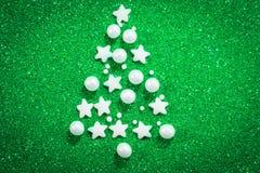 抽象背景圣诞树 免版税库存图片