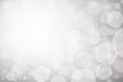 抽象背景圣诞灯银 库存图片
