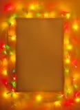 抽象背景圣诞灯 免版税库存图片