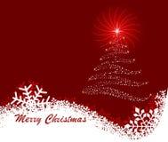 抽象背景圣诞节向量 免版税库存照片