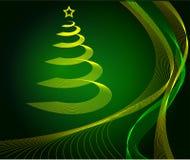 抽象背景圣诞节绿色结构树 图库摄影