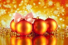 抽象背景圣诞节装饰品 免版税库存照片
