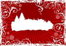 抽象背景圣诞节 库存例证