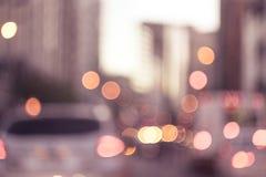 抽象背景在城市,夜生活,夜城市点燃 免版税图库摄影