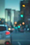 抽象背景在城市,夜生活,夜城市点燃 图库摄影