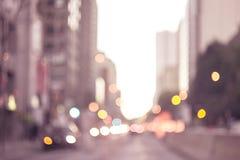 抽象背景在城市,夜生活,夜城市点燃 免版税库存图片