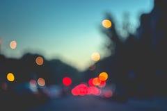 抽象背景在城市,夜生活,夜城市点燃 库存照片