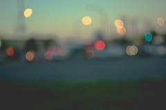 抽象背景在城市,夜生活,夜城市点燃 免版税库存照片