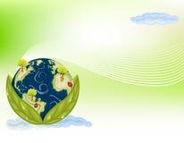 抽象背景地球绿色 免版税库存图片