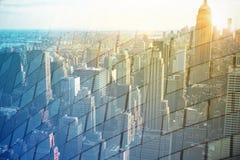 抽象背景城市 免版税库存图片