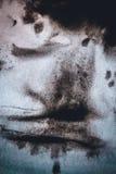 黑抽象背景墨水污点传播 库存图片