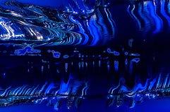 抽象背景弯曲蓝色 免版税库存图片