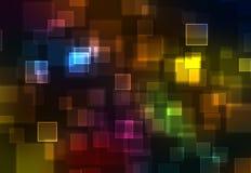 抽象背景彩虹正方形 免版税库存照片
