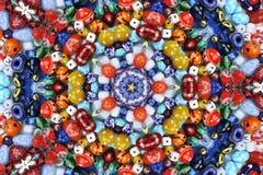 抽象背景成串珠状五颜六色的分数维 库存图片
