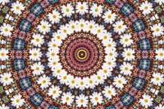 抽象背景成串珠状camomiles分数维 免版税图库摄影