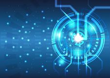 抽象背景技术概念传染媒介关于力量能量和反应器的 向量例证