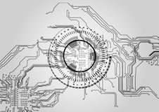 抽象背景技术 抽象背景设计例证马赛克 免版税库存图片
