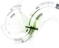 抽象背景技术 未来派技术接口 免版税库存照片