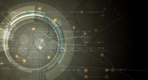 抽象背景技术 未来派技术接口 免版税库存图片