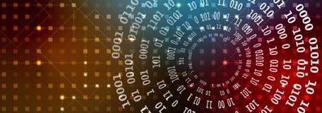 抽象背景技术 未来派技术接口 Vecto 免版税库存图片
