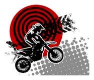 抽象背景摩托车越野赛 库存照片