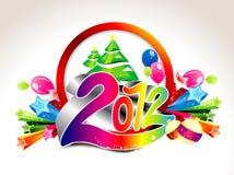 抽象背景新年度 图库摄影