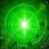抽象背景日绿色帕特里克s st 向量例证