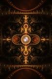 抽象背景时钟火焰分数维珠宝 免版税库存照片