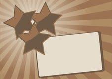 抽象背景星形 免版税库存图片