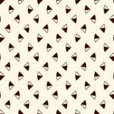 抽象背景最低纲领派 与微型三角的简单的现代印刷品 与几何图的无缝的样式 库存例证