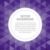 抽象背景有紫罗兰色背景和拷贝的圆的空间 库存例证