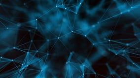 抽象背景未来派技术 美丽的结节 库存例证