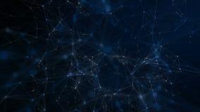 抽象背景未来派技术 美丽的蓝色结节 股票录像