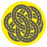 抽象背景标号路 连接点 皇族释放例证