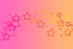 抽象背景梯度星形 免版税图库摄影