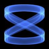 抽象背景模式 在黑暗的背景的明亮的蓝线 无限符号 免版税库存照片