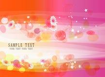 抽象背景横幅五颜六色的花 免版税库存图片
