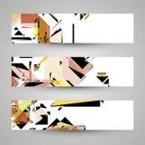 抽象背景横幅设计要素 免版税库存图片