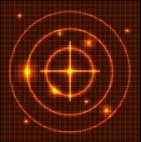 抽象背景橙色技术 向量例证