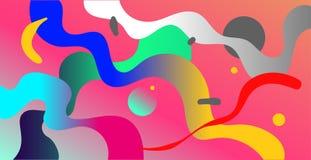 抽象背景氖 抽象传染媒介例证,水平 库存例证