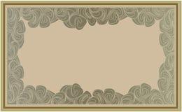 抽象背景波浪框架 免版税库存图片