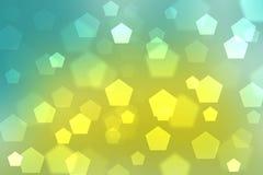 抽象背景混合蓝色颜色bokeh圈子 免版税库存照片