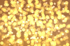 抽象背景混合金子和yellor上色bokeh圈子 免版税库存照片