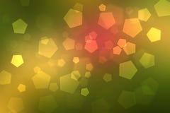 抽象背景混合金子颜色bokeh圈子 免版税库存图片