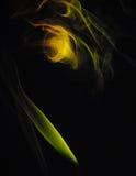 抽象背景火绿色形状黄色 库存图片