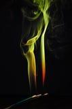 抽象背景火绿色形状黄色 免版税库存图片