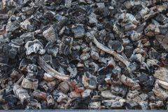 抽象背景灼烧的煤炭 纹理 图库摄影