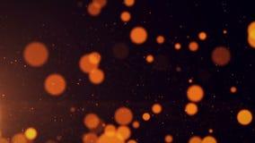 抽象背景点燃微粒光芒 股票视频