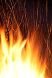 抽象背景燃烧的火 免版税库存照片