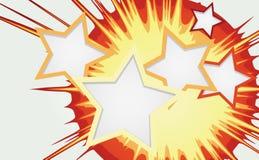 抽象背景爆炸颜色星形 免版税库存照片